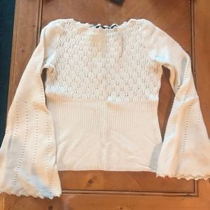Express Lambswool Boho lace sweater- Bell Sleeves